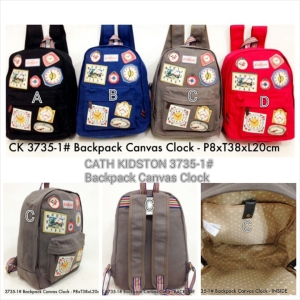 CATH KIDSTON 3735-1# Backpack Canvas Clock