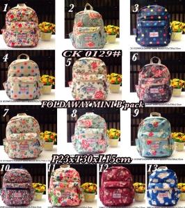 CK 0129# FOLDAWAY Mini Backpack  -